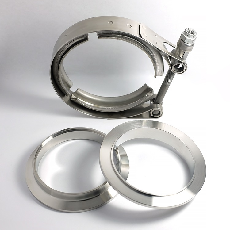 """3.5"""" SS304 V-Band Assembly (2 Flanges & 1 Clamp)"""