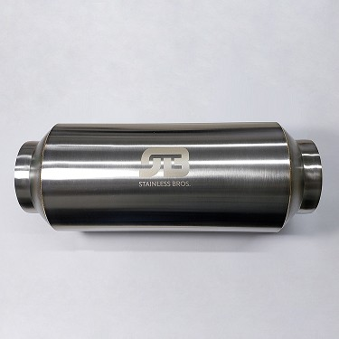 "3"" SS304 Lightweight Race Muffler 17"" OAL - Matte Finish"